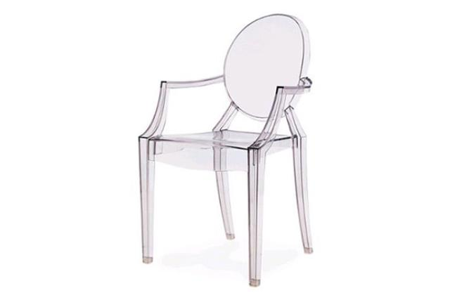 Clear Ghost Chair W/arms