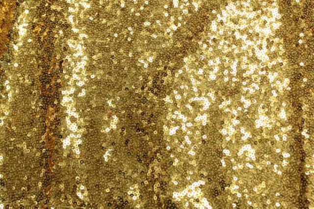 Bright Gold Sequin Runner 120