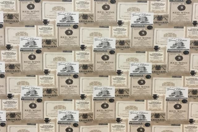 Wine Labels (small) Print Runner 120