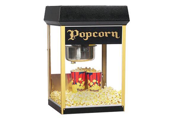 8 Oz Black Popcorn Machine