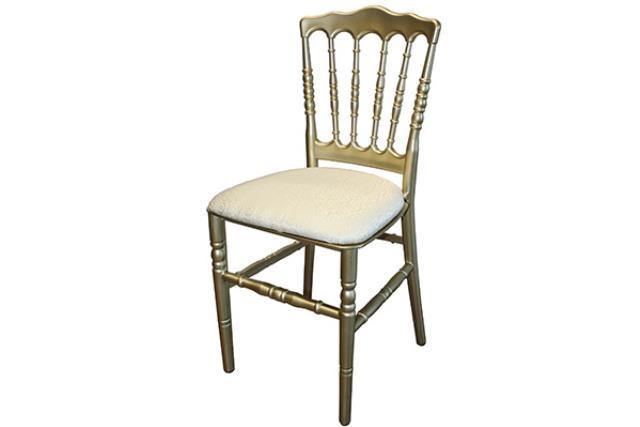 Gold Resin Napoleon Chair