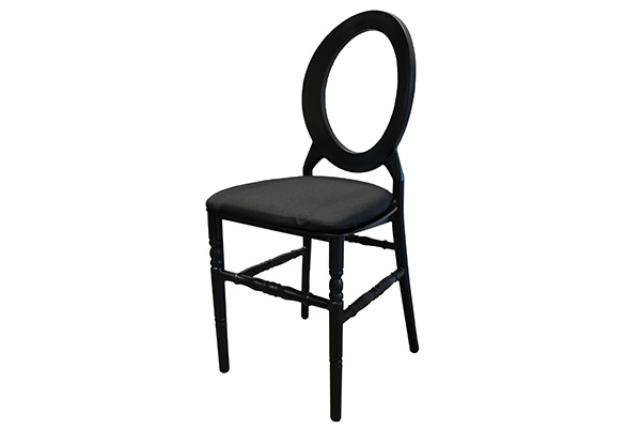 Black Resin O Back Chair