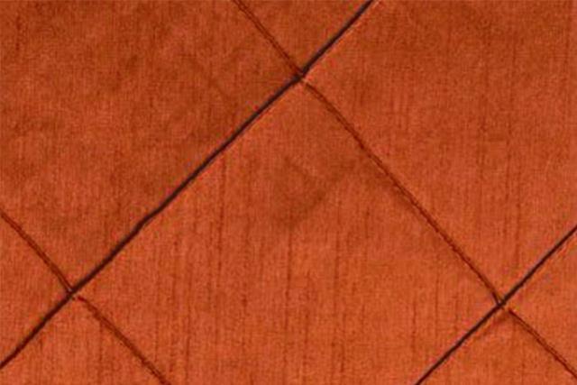 Burnt Orange Pintuck Nov Runner, 120
