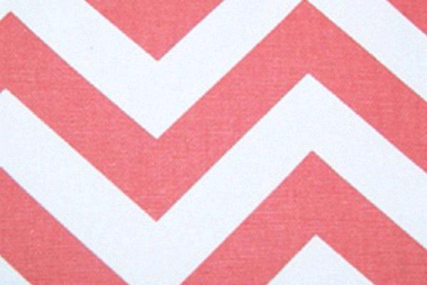 Coral & White Chevron Runner, 120