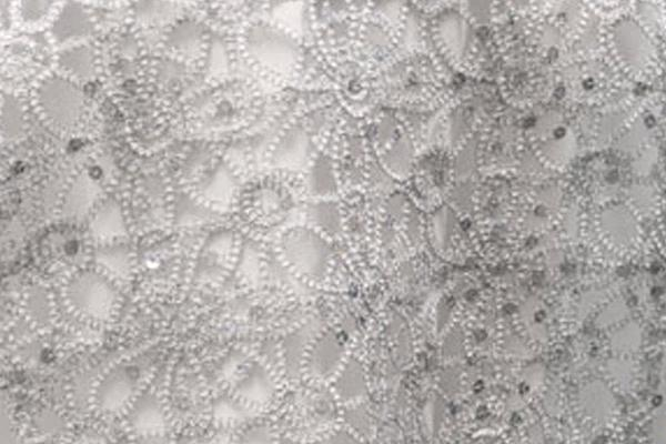 Silver Braided W/sequins Runner,13
